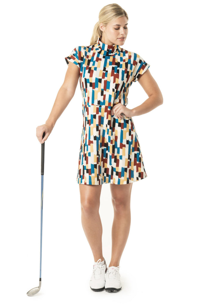 cute women's golf dress multi color