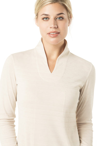 fashionable women's long sleeve golf shirt
