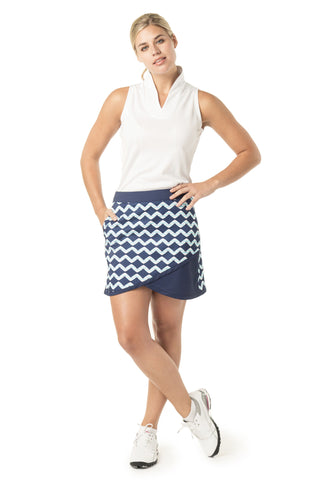 Diagonal cut skort front view