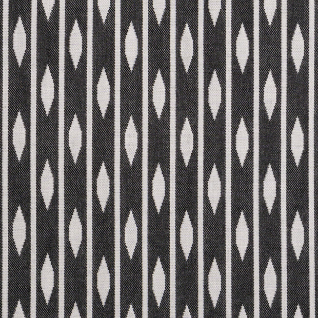 saturday house black and white almond stripe pillow