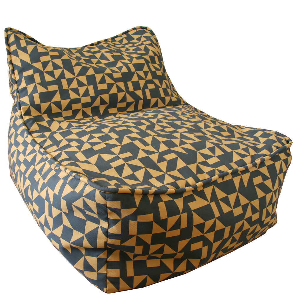 Beau Saturday House Outrigger Bean Bag Chair: Navy ...