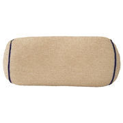 Saturday House Beige Bolster: Beige Terry with Navy Trim