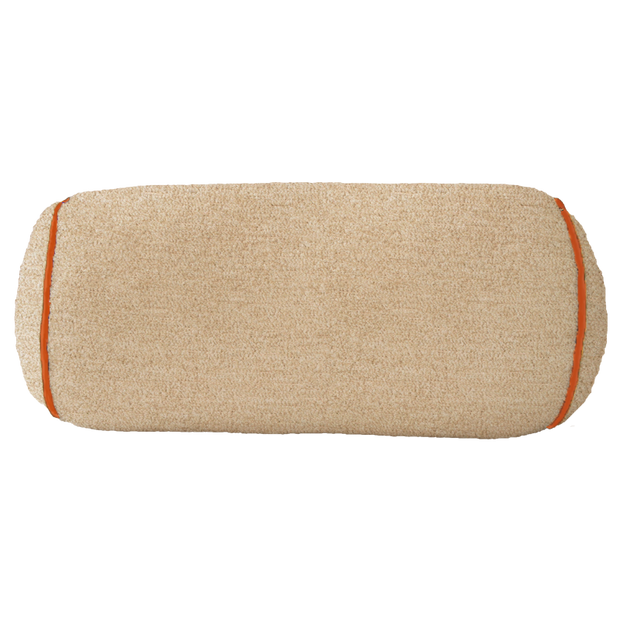Saturday House Beige with Orange Trim Bolster