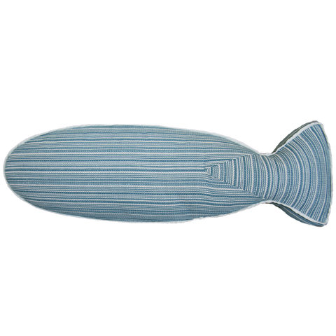 Saturday House Mackerel (blue) fish pillow