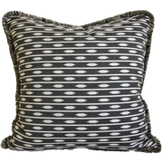 shopify black and white almond stripe pillow