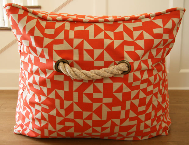 Orange Bean Bag