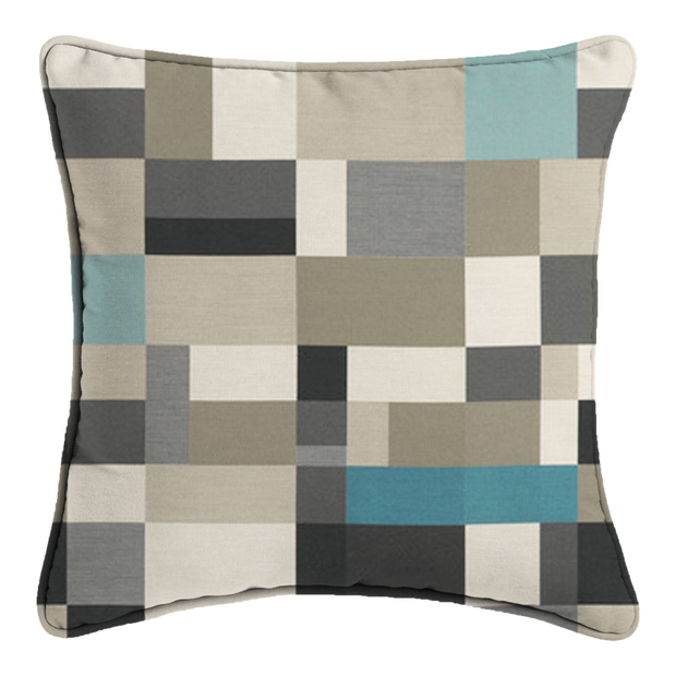 Saturday House Mosaic Pillow: Jetty