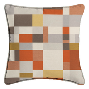 Saturday House Mosaic Pillow: Sandstone