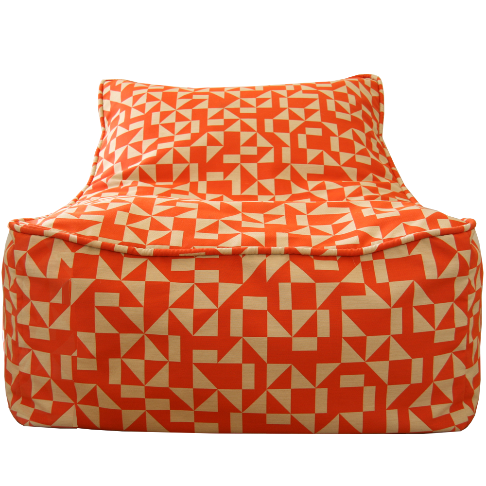 Saturday House Outrigger Bean Bag Chair Poppy Orange