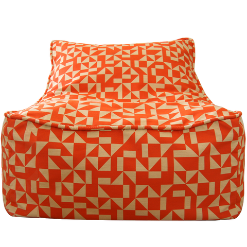 Saturday House Outrigger Bean Bag Chair: poppy