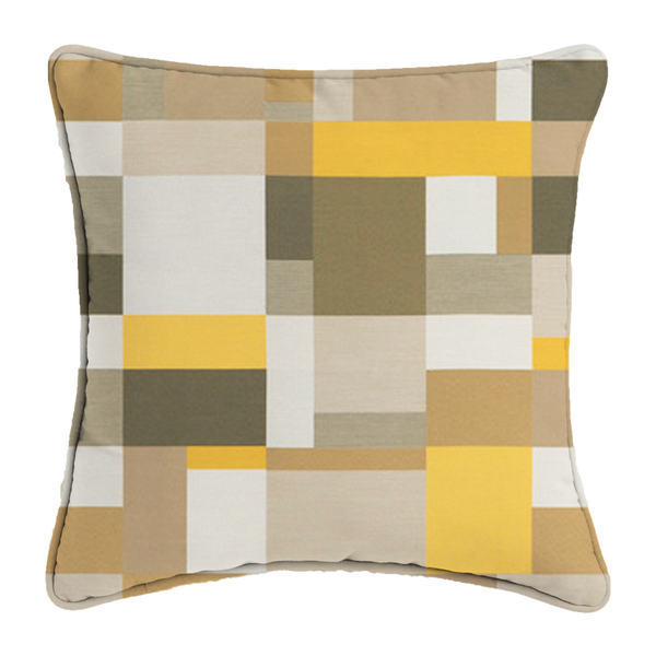 yellow mosaic pillow