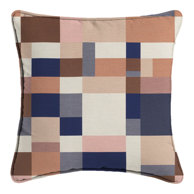 Saturday House Mosaic Pillow: Canyon