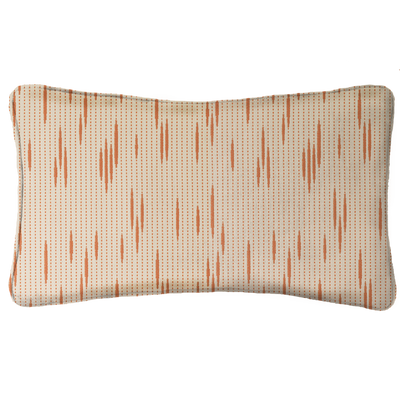 Saturday House Orange Lumbar Pillow
