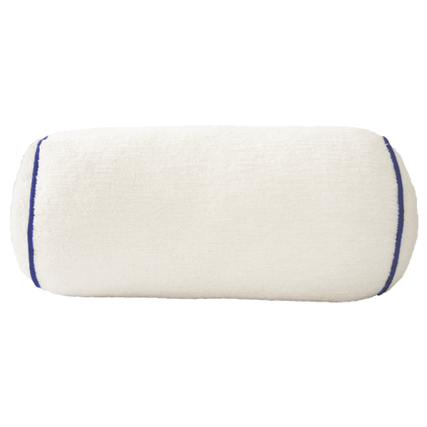 Bolster: White Terry with Navy Trim