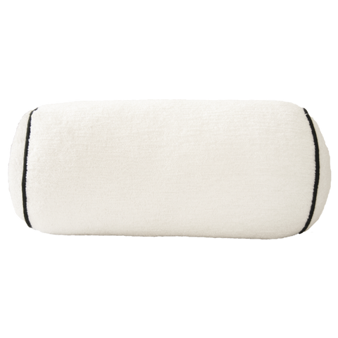 Black and White Bolster with Black Trim