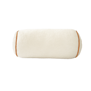 Saturday House White Bolster with Orange Trim