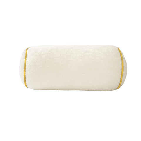 Bolster: White Terry with Yellow Trim