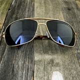 Premium Rectangle Gold Metal-Frame Retro Classic Oversized Aviator Sunglasses - NikkiEyewear.com - 7