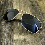 Premium Rectangle Gold Metal-Frame Retro Classic Oversized Aviator Sunglasses - NikkiEyewear.com - 5
