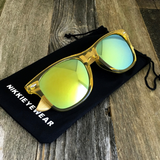Bamboo Wood Transparent Yellow Hybrid Sunglasses - NikkiEyewear.com - 2