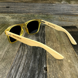 Bamboo Wood Transparent Yellow Hybrid Sunglasses - NikkiEyewear.com - 3