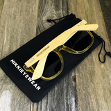 Bamboo Wood Transparent Yellow Hybrid Sunglasses - NikkiEyewear.com - 4