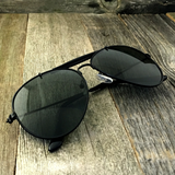 Stylish and Timeless, The Classic Outdoorsman Style Crossbar Metal Aviator Sunglasses - NikkiEyewear.com - 2