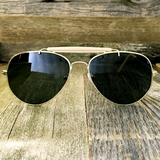 Stylish and Timeless, The Classic Outdoorsman Style Crossbar Metal Aviator Sunglasses - NikkiEyewear.com - 7