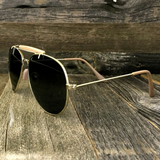 Stylish and Timeless, The Classic Outdoorsman Style Crossbar Metal Aviator Sunglasses - NikkiEyewear.com - 10