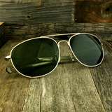 Classic Oval Sport Aviator Pilot with Glass Lens and  Paddle Temples Sunglasses - NikkiEyewear.com - 6