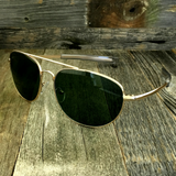 Classic Oval Sport Aviator Pilot with Glass Lens and  Paddle Temples Sunglasses - NikkiEyewear.com - 1