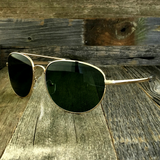 Classic Oval Sport Aviator Pilot with Glass Lens and  Paddle Temples Sunglasses - NikkiEyewear.com - 12
