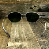 Classic Oval Sport Aviator Pilot with Glass Lens and  Paddle Temples Sunglasses - NikkiEyewear.com - 11