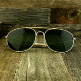 Classic Oval Sport Aviator Pilot with Glass Lens and  Paddle Temples Sunglasses - NikkiEyewear.com - 3