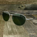 Classic Oval Sport Aviator Pilot with Glass Lens and  Paddle Temples Sunglasses - NikkiEyewear.com - 2