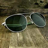 Classic Oval Sport Aviator Pilot with Glass Lens and  Paddle Temples Sunglasses - NikkiEyewear.com - 5