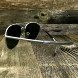 Classic Oval Sport Aviator Pilot with Glass Lens and  Paddle Temples Sunglasses - NikkiEyewear.com - 8
