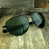 Classic Oval Sport Aviator Pilot with Glass Lens and  Paddle Temples Sunglasses - NikkiEyewear.com - 9