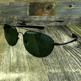 Classic Oval Sport Aviator Pilot with Glass Lens and  Paddle Temples Sunglasses - NikkiEyewear.com - 4
