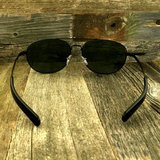 Classic Oval Sport Aviator Pilot with Glass Lens and  Paddle Temples Sunglasses - NikkiEyewear.com - 14