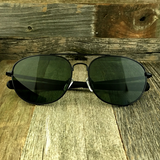 Classic Oval Sport Aviator Pilot with Glass Lens and  Paddle Temples Sunglasses - NikkiEyewear.com - 13