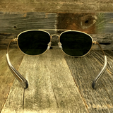 Classic Oval Sport Aviator Pilot with Glass Lens and  Paddle Temples Sunglasses - NikkiEyewear.com - 7