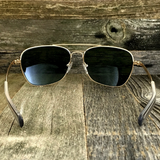 Classic Rectangle Aviator Pilot Sunglasses with Paddle Temples and Glass Lens - NikkiEyewear.com - 8