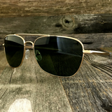 Classic Rectangle Aviator Pilot Sunglasses with Paddle Temples and Glass Lens - NikkiEyewear.com - 10
