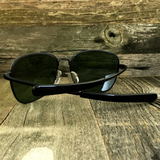 Classic Rectangle Aviator Pilot Sunglasses with Paddle Temples and Glass Lens - NikkiEyewear.com - 6
