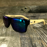Classic Wooden Bamboo Temples Aviator Square Sunglasses - NikkiEyewear.com - 8