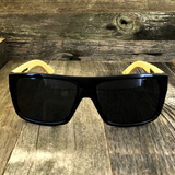 Classic Wooden Bamboo Temples Aviator Square Sunglasses - NikkiEyewear.com - 1