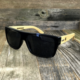 Classic Wooden Bamboo Temples Aviator Square Sunglasses - NikkiEyewear.com - 7