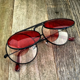 Vintage Steampunk Hippie Round Flip Up Tinted Color Lens Sunglasses - NikkiEyewear.com - 6