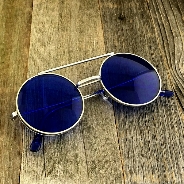 Vintage Steampunk Hippie Round Flip Up Tinted Color Lens Sunglasses - NikkiEyewear.com - 4